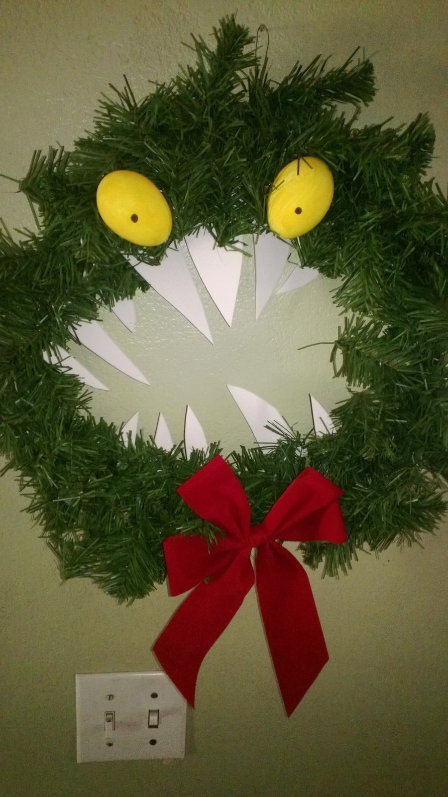 Nightmare before christmas monster wreath a floral wreath nightmare before christmas monster wreath next prev simple monster wreath to make for yourself friends solutioingenieria Gallery