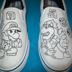Paper Mario Shoes