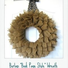 Burlap Bookpage Wreath