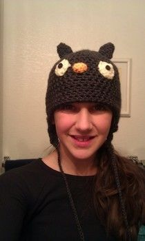 Adorable little hat great for all ages! .  Make an animal hat in under 163 minutes by embellishing, needleworking, sewing, and crocheting with yarn, yarn, and yarn. Inspired by birds, kawaii, and owls. Creation posted by Yarn Zoo. Difficulty: Easy. Cost: Cheap.