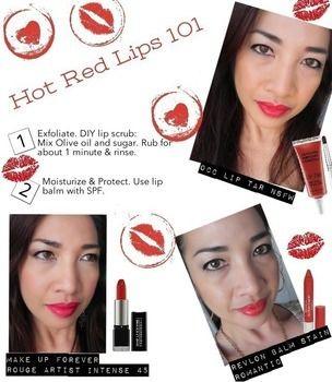 How to wear red lipstick .  Free tutorial with pictures on how to paint a red lip in under 2 minutes by applying makeup with lipstick. How To posted by KathTheFabZilla. Difficulty: Easy. Cost: No cost. Steps: 4