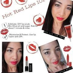 Square hot red lips 101