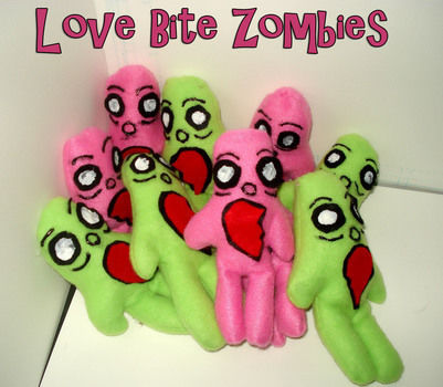 Even zombies need someone to love. .  Make a food plushie by sewing with felt, hot glue gun, and fabric paint. Inspired by halloween, domo kun, and domo kun. Creation posted by Sugarlishes. Difficulty: Easy. Cost: Cheap.