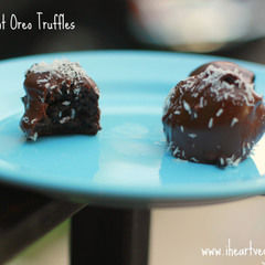 Square 4 ingredient truffles