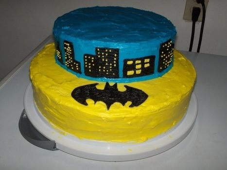 For my 5 year old's birthday party .  Decorate a superhero cake in under 120 minutes by cooking, baking, and decorating food with cake mix, icing tip, and cream cheese frosting. Creation posted by fetisha. Difficulty: Simple. Cost: Cheap.