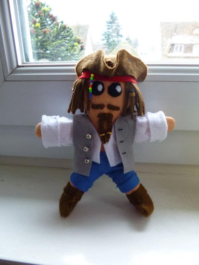 Jack Sparrow Plushie 183 A Rag Dolls A Person Plushie