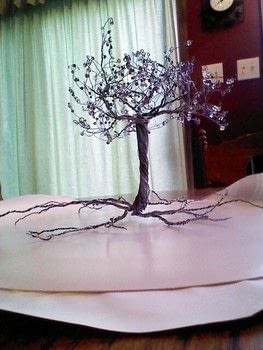 .  Make a wire tree by  Inspired by trees. Version posted by Tristin C. Difficulty: Simple. Cost: Cheap.