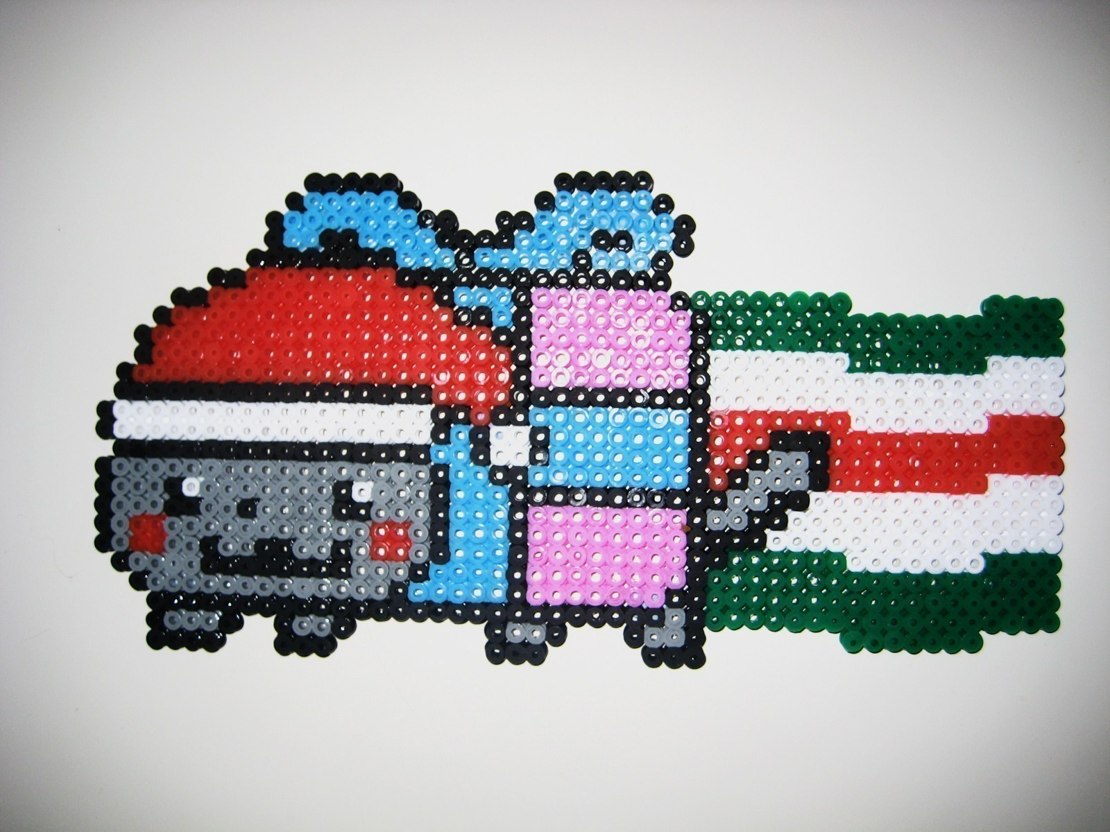 Christmas Nyan Cat · A Beaded Animal · Pegboard and Beadwork