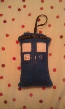 In case your christmas tree has alien problems. .  Make a Christmas tree ornament in under 120 minutes by embroidering and sewing with felt, thread, and ribbon. Inspired by christmas, dr who, and geeky. Creation posted by Vicky. Difficulty: Easy. Cost: No cost.