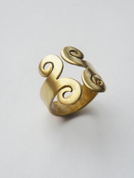 A brass ring .  Make a metal ring in under 60 minutes by jewelrymaking and metalworking with brass. Inspired by clothes & accessories. Creation posted by alpha.omega. Difficulty: Simple. Cost: Cheap.