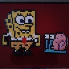 Hama Bead Spongebob And Gary
