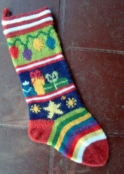 Knit a familiy heirloom! .  Make a Christmas stocking by embellishing, embroidering, and knitting with worsted weight yarn. Inspired by christmas. Creation posted by Terry Morris. Difficulty: Easy. Cost: 3/5.