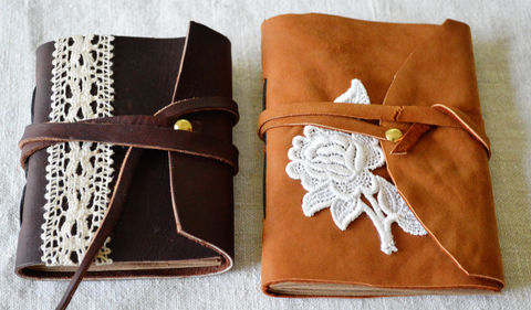 I made some notebooks from leather jackets. .  Make a leather journal in under 60 minutes by papercrafting, bookbinding, and scrapbooking with scissors, needle, and leather. Inspired by christmas. Creation posted by maize hutton. Difficulty: Easy. Cost: Absolutley free.