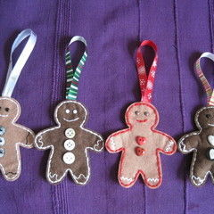 Christmas Gingerbread Men Hanging Tree Decorations