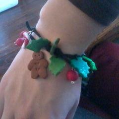 Christmas Fimo Wrap Around Bracelet