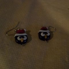 Penguin Bead Earrings