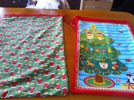 Make your own to whatever size you need. very simple! .  Make a pouch, purse or wallet in under 60 minutes by sewing and patchworking with fabric and ribbon. Inspired by christmas and santa claus. Creation posted by Teagan D. Difficulty: Easy. Cost: Cheap.