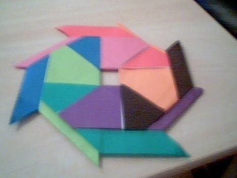 Colourful origami star .  Fold an origami shape in under 30 minutes by creating, papercrafting, paper folding, paper folding, and paper folding with origami paper. Inspired by stars. Creation posted by marwa a. Difficulty: 4/5. Cost: Cheap.