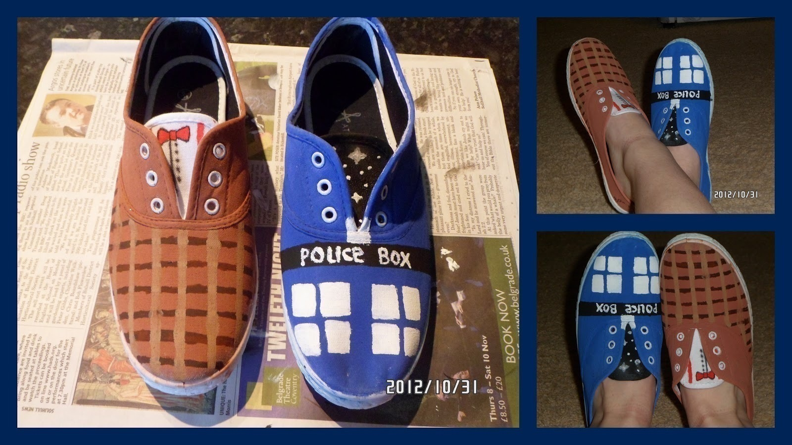 Doctor Who Shoes How To Paint A Pair Of Character Shoes Decorating And Embellishing On Cut Out Keep