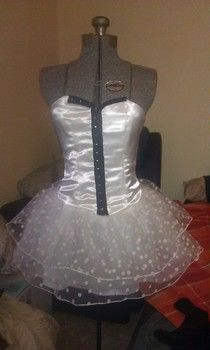 Corset style tutu dress .  Make a tutu dress in under 180 minutes by applying makeup with pattern, fabric scraps, and boning. Inspired by gothic, costumes & cosplay, and clothes & accessories. Creation posted by Jess.  in the Sewing section Difficulty: 4/5. Cost: Cheap.