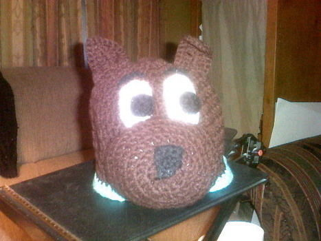Beanies made in the middle of the night, in the midst of fruit tea induced insomnia. :) .  Make an animal hat by crocheting with crochet hook and red heart yarn. Inspired by clothes & accessories. Creation posted by Anita W. Difficulty: 4/5. Cost: 3/5.