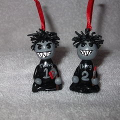 Bad Things 1 & 2 Christmas Ornament