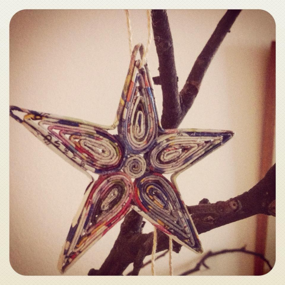 Christmas Tree Made Out Of Paper: Christmas Ornaments Made With Recycled Paper · A Bauble