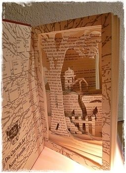 To give old books a 2nd life and chance .  Make a piece of book art by papercrafting with book and cutting knife. Inspired by christmas, books, and snowflakes. Creation posted by Artistically. Difficulty: Easy. Cost: Absolutley free.