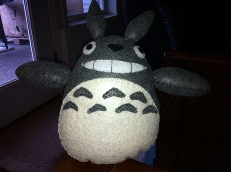 Cute felt plush of the  main character from the movie, My neighbor Totoro .  Make a bear plushie by needleworking, sewing, and felting with felt, felt, and felt. Inspired by crafts, kids, and cartoons. Creation posted by . Difficulty: Simple. Cost: Cheap.