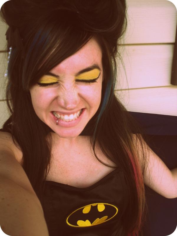 Batman Inspired Makeup! · How To Create A Yellow Eye Makeup Look ...