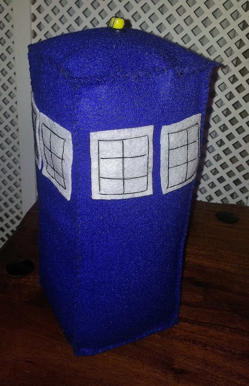 Doctor Who Felt Tardis 183 A Doctor Who Plushie 183 Embroidery