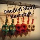 Beaded Skull Earrings