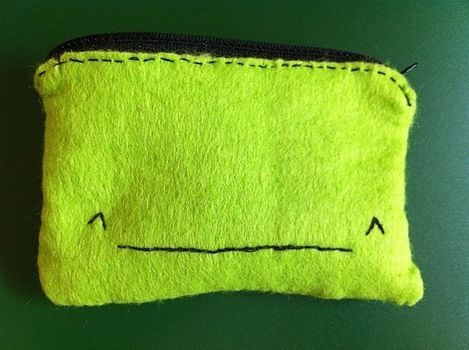 Featuring Ignatius the Iphone Whale! .  Sew a fabric animal pouch in under 20 minutes by needleworking, sewing, and felting with felt, thread, and needle. Inspired by crafts, kawaii, and whales. Creation posted by . Difficulty: Easy. Cost: Absolutley free.