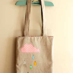 Cloudy Day Applique Tote