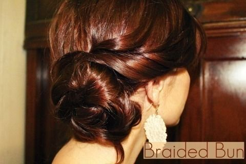 Braided side bun similar to Lauren Conrad's. .  Free tutorial with pictures on how to style a braided bun in under 20 minutes by hairstyling with hair clips. Inspired by lauren conrad. How To posted by MaNouvelleMode. Difficulty: Simple. Cost: Cheap. Steps: 3