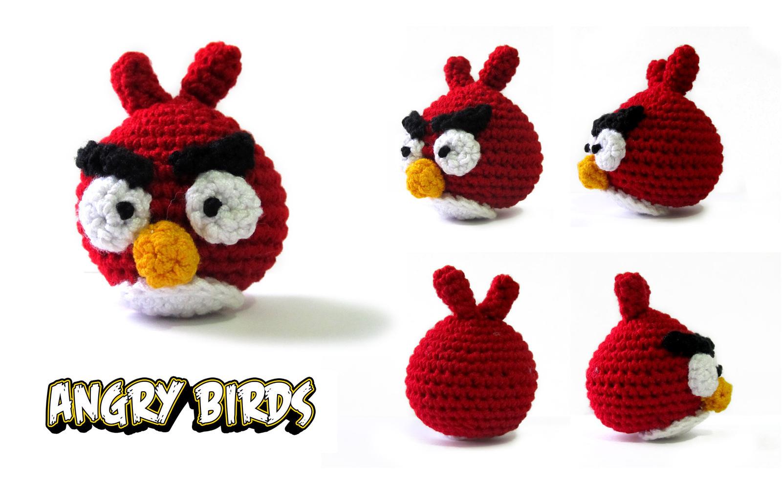 Amigurumi Angry Birds: Pink Bird - 7 Robots | 994x1600