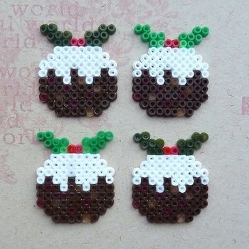 Make cute card embellishments from mini Hama beads .  Free tutorial with pictures on how to make a beaded card in under 20 minutes by beading, pegboarding, constructing, embellishing, melting, papercrafting, cardmaking, and printing with cardstock, tweezers, and ironing board. Inspired by crafts and christmas. How To posted by kathryn.funnell. Difficulty: Simple. Cost: 3/5. Steps: 4
