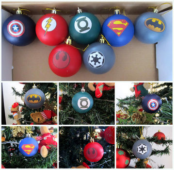 Giving a little geek touch to the christmas .  Make a bauble in under 60 minutes using acrylic paint and self adhesive paper. Inspired by christmas, star trek, and batman. Creation posted by Lufe Soto. Difficulty: Easy. Cost: Absolutley free.