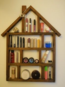 Diy shelving  .  Make a hook or rack in under 10 minutes by applying makeup with make up. Creation posted by Andrea.  in the Decorating section Difficulty: Easy. Cost: Absolutley free.