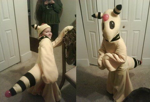 Pokemon Costume .  Make an animal costume by sewing with fleece, shoes, and foam. Inspired by halloween, pokemon, and costumes & cosplay. Creation posted by MJ. Difficulty: 3/5. Cost: 3/5.