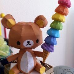 Rilakkuma / Relax Bear Ice Cream Papercraft