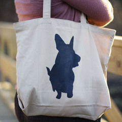 Simple Stenciled Tote Bag
