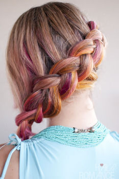Easy Dutch side braid hairstyle tutorial .  Free tutorial with pictures on how to style a side braid in under 5 minutes by hairstyling with brush and hair elastic. Inspired by dutch. How To posted by Hair Romance. Difficulty: Simple. Cost: No cost. Steps: 2