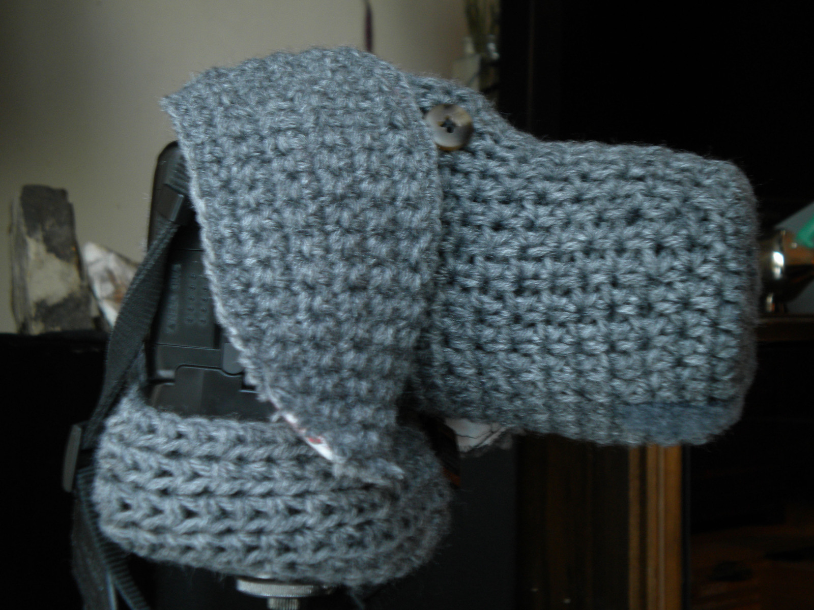 Weimaraner Dslr Camera Cosy 183 A Knit Or Crochet Pouch