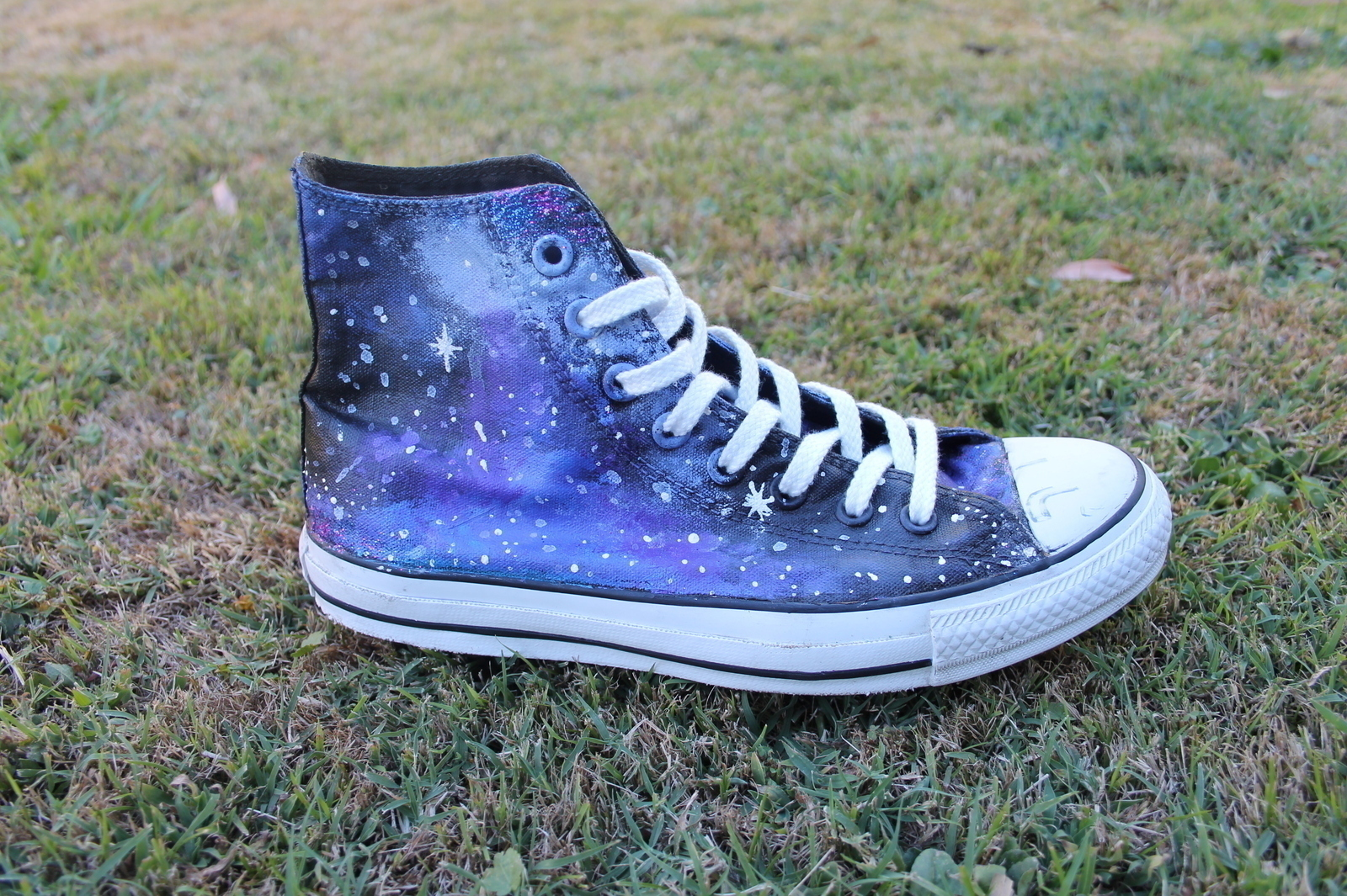 Galaxy Converse 183 A Pair Of Patterned Shoes 183 Art