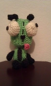 Cute little gir plushie!  .  Make a food plushie in under 140 minutes by embellishing, embroidering, and crocheting with yarn, yarn, and yarn. Inspired by gifts, invader zim, and domo kun. Creation posted by Yarn Zoo. Difficulty: Easy. Cost: Cheap.
