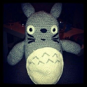 My amigurumi neighbour totoro! .  Make a bear plushie by crocheting and amigurumi with felt, wool, and wool. Inspired by my neighbor totoro. Creation posted by Tess. Difficulty: Simple. Cost: 3/5.