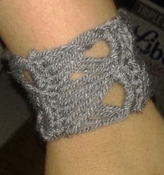 The easiest cuff ever! .  Free tutorial with pictures on how to stitch a knit or crochet bracelet in under 60 minutes by jewelrymaking and crocheting with buttons, crochet hook, and cotton yarn. How To posted by Nariamma. Difficulty: Simple. Cost: Absolutley free. Steps: 3