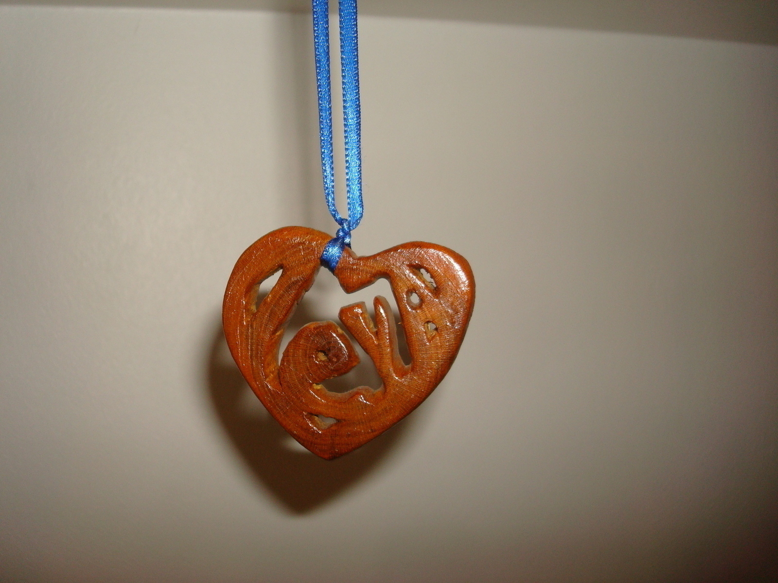 Wooden Heart Name Pendant 183 A Wooden Necklace 183 Art