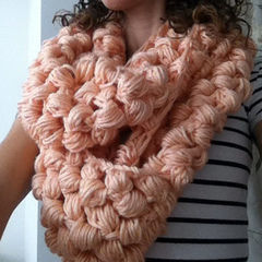 Yummy Puff Stitch Scarf